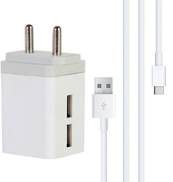 3.0 Amp Dual Usb Port Mobile charger with Micro USB cable
