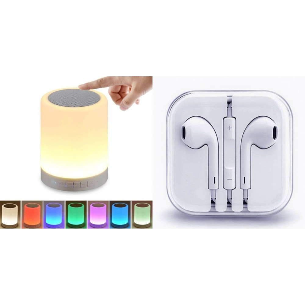 Touch lamp bluetooth speaker compatiable With all smart phones    Bluetooth speaker with SD card and USB slot Wireless Bluetooth Multimedia Speaker    Wireless Speaker and White Wired Headphones