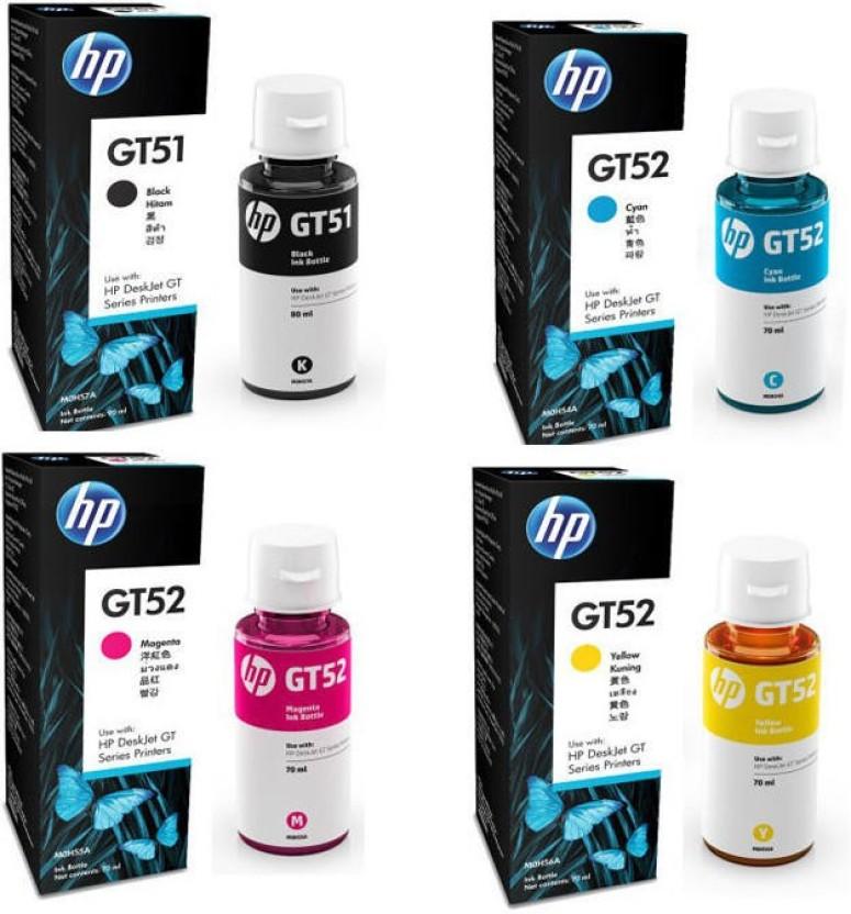 InkJet HP GT51 Original Multi Color Ink Magenta, Black, Yellow, Cyan