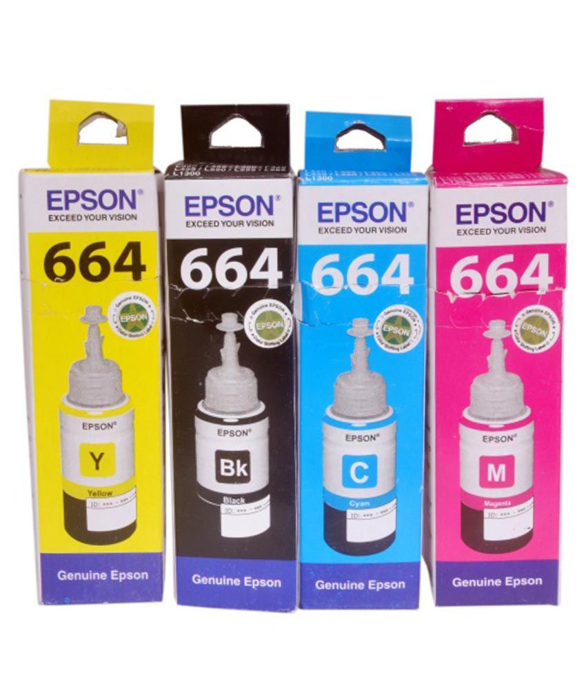Original Epson 664 ink Colour Toner For Epson L Series Printers Set Of 4