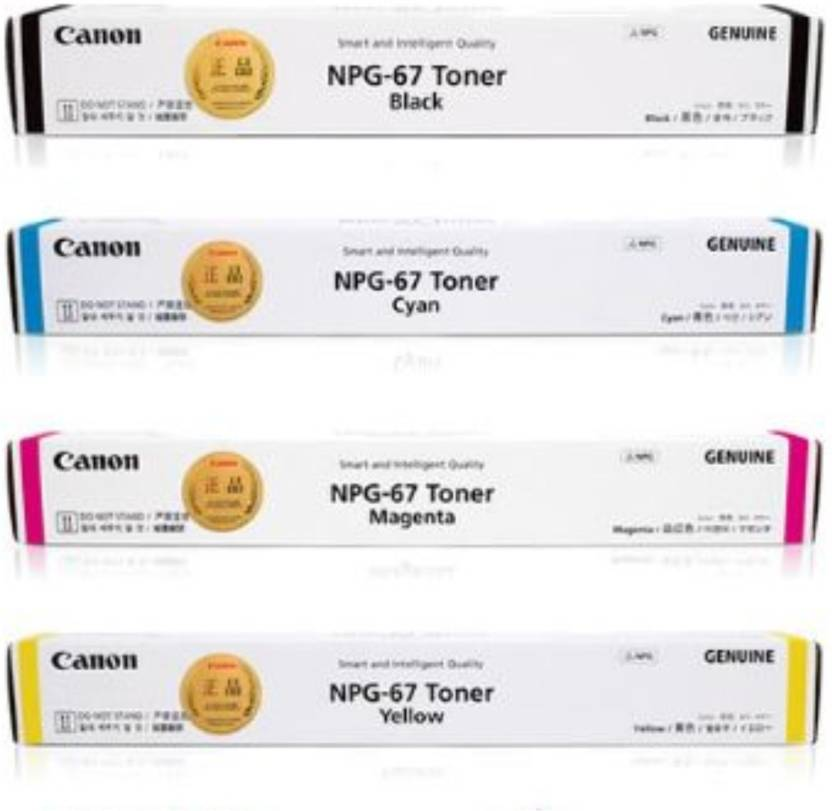 Canon NPG 67 Multi Color Toner  Black, Cyan, Yellow, Magenta