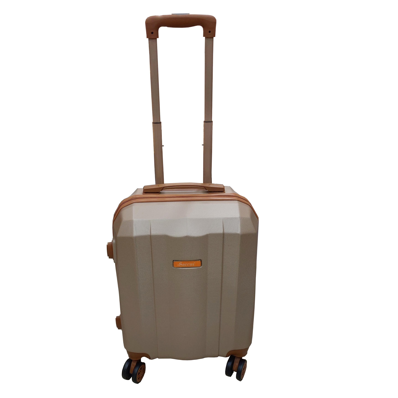 Saccus ABS 20inch Rose Gold Hard Cabin Trolley Bag  4 Double Wheeler