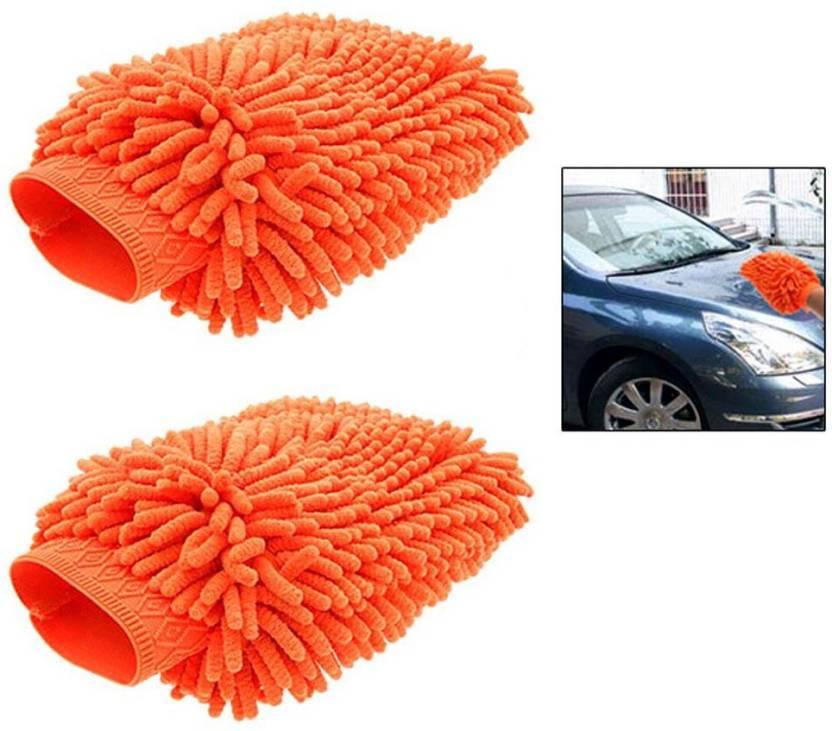 Ak kart Microfiber vehicle Washing Cloth Hand Glove  Set of 2