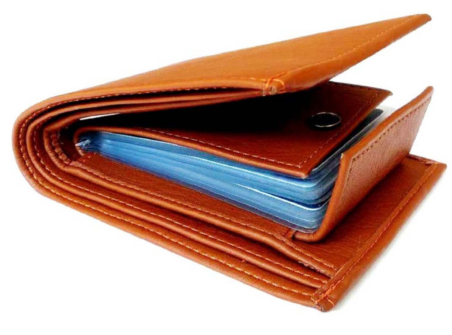 Men Tan Artificial leather Wallet  Synthetic leather/Rexine