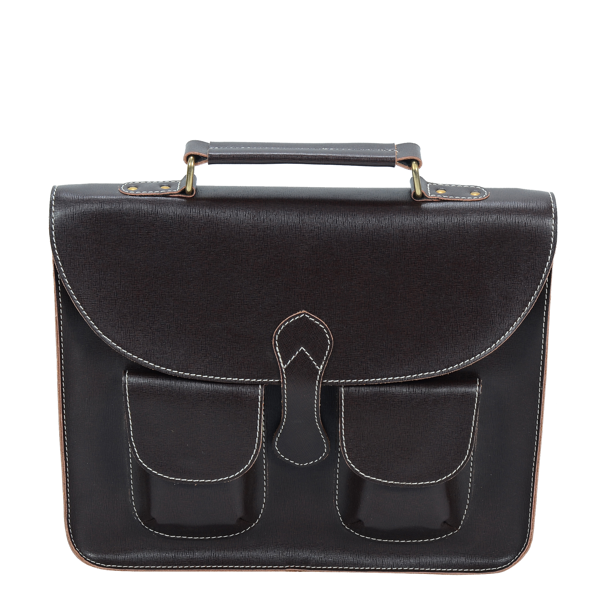 Urbanity Brown Leather 15 Inch Laptop Bag
