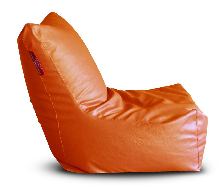 Style Homez Premium Leatherette XXXL Bean Bag Chair Orange Color, Cover Only