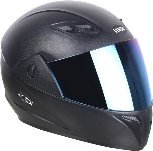 Virgo di Plus Motorbike Helmet  Black_BlueVisor