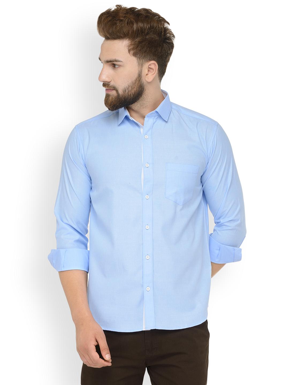 Men Solid Full Sleeve Formal Shirt