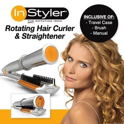 Hy Touch Branded Instyler Rotating Iron Straightener And Curling In Styler Hair Curler  Silver