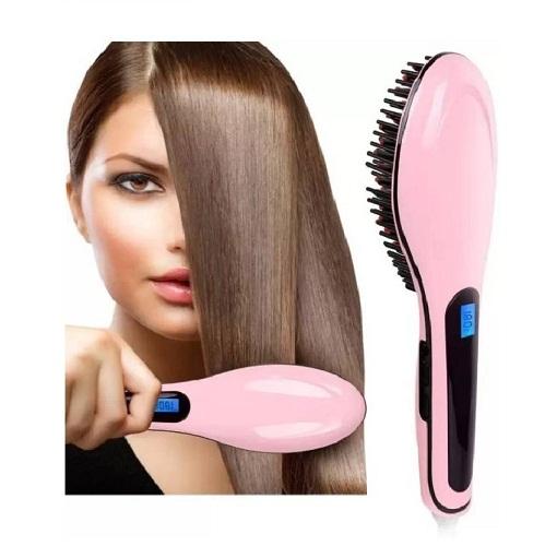 Hair Straightener Brush   Hair Straightener   HQT 906  Pink