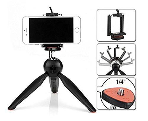 G MTIN Yunteng YT 228 Mini Tripod Flexible Portable stand With Phone Holder Clip For Phone Digital DSLR Camera Smartphon