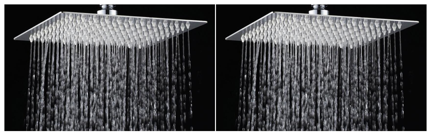 Logger   6 Inches X 6 Inches Ultra Slim Square Shower Head Only Set Of 2 Pcs