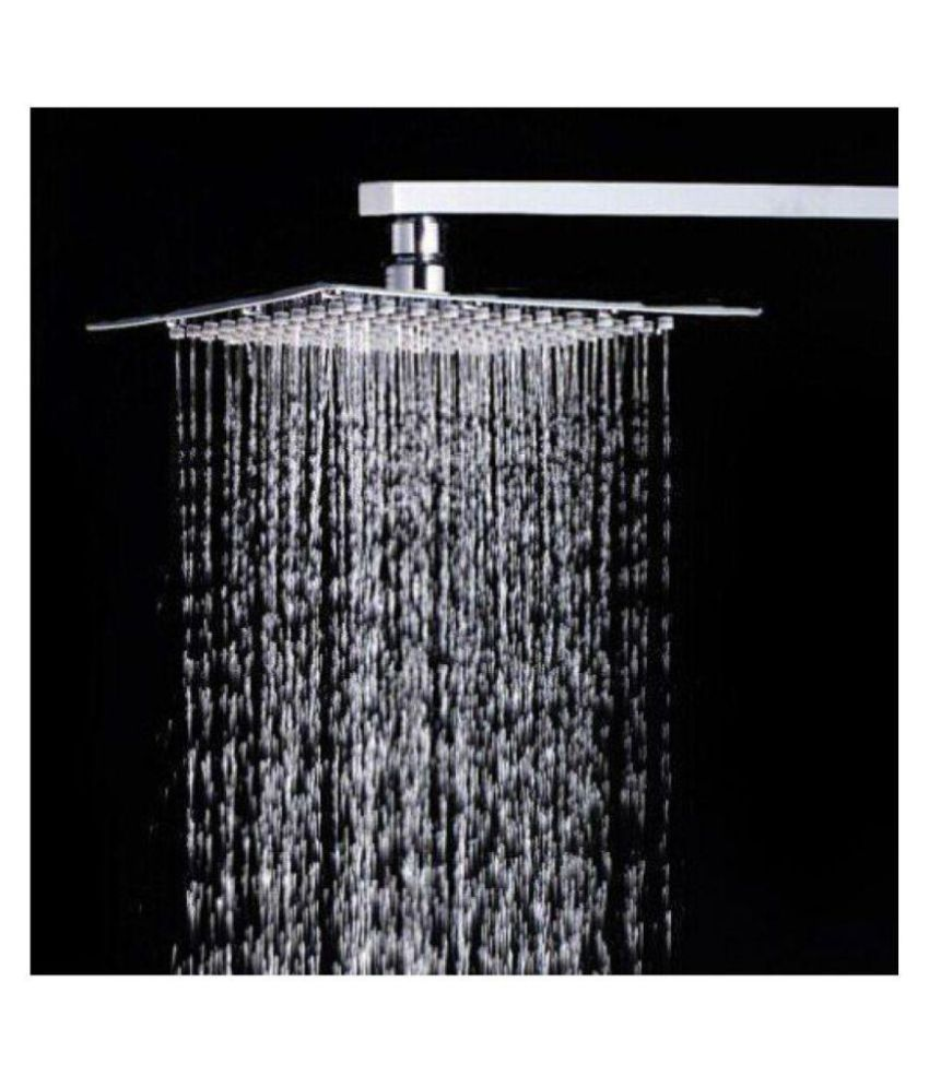 Logger   Ultra Slim Square  4 X4   Rain Shower Head With 9 Inches Arm