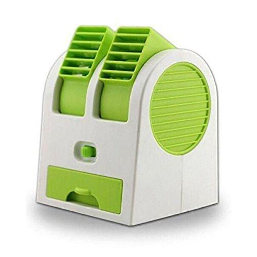Mini Small Fan Cooler Cooling Portable Desktop Dual Bladeless Air Cooler USB