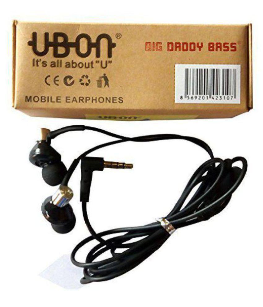 UBON UB 1085 In Ear Wired Earphones With Mic