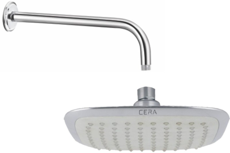 Cera   Overhead Rain Shower Square 200X200 Mm  8  X 8   With Shower Arm 380 Mm  15   And Wall Flange Shower Head