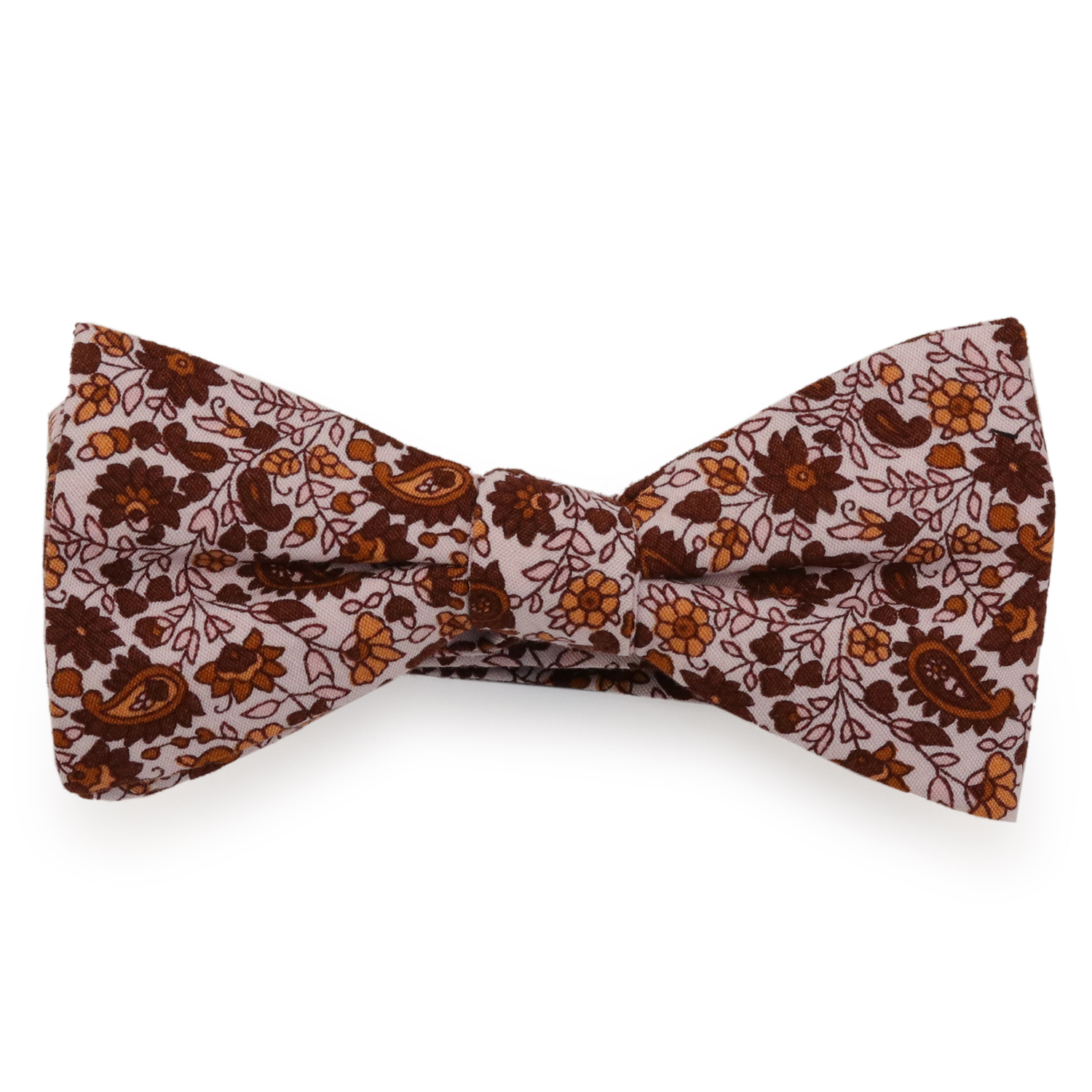 69th Avenue Men's Pink Cotton Floral Printed Bow Tie