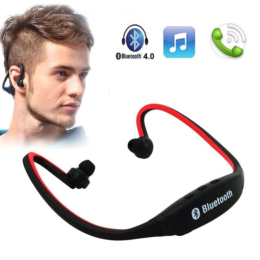 doitshop Wireless Bluetooth Headset BS19C/Headphone Sports Bluetooth Headset  with Micro Sd Card Slot