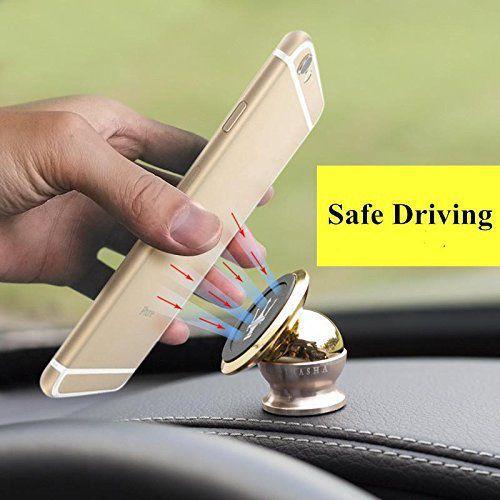 IT Solutions Car Mobile Holder Magnetic for Dashboard Windshield   Golden