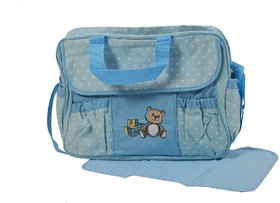 Dazzle Baby Diaper bag/ Multi Utility Backpack/ Mother Bag with Multiple Pockets Blue