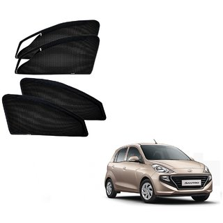 Auto Addict Zipper Magnetic Car Sunshades Curtain For Hyundai New Santro (2018-Present)