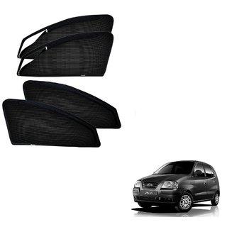 Auto Addict Zipper Magnetic Car Sunshades Curtain For Hyundai Santro Xing
