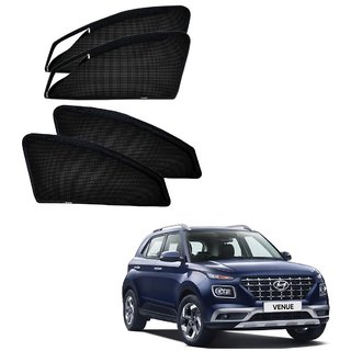 Auto Addict Zipper Magnetic Car Sunshades Curtain For Hyundai Venue