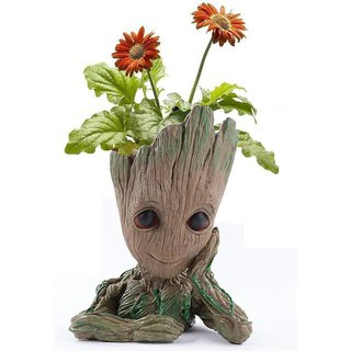 House of Quirk Groot Planter Flower Pot Groot Action Figures Guardians of The Galaxy Flowerpot Baby Cute Model Toy Pen C