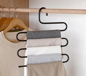 House of Quirk Stainless Steel Cloth Hanger  (Black)