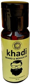 Khadi Natural Herbal Beard and Mooch Oil 30Ml