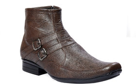JK Port Men's Brown Synthetic Leather Boot