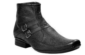 JK Port Men's Black Synthetic Leather Boot