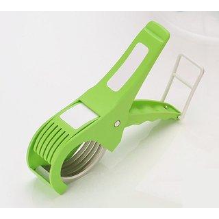 Xectes Multi Veg Cut 5 Laser Blade Vegetable & Fruits Cutter Chopper Slicer (Multicolor) Set Of 1