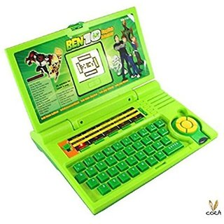 Ben 10 English Learner Laptop for Kids 20 Activities (Green)