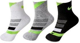 Nike Unisex Ankle Socks - Pack of 3