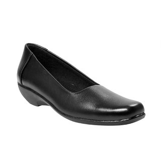 JK Port Womens Black Synthetic Leather Formal Shoes