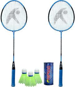 Hipkoo Air Badminton Set (Blue) With Bag Badminton Kit