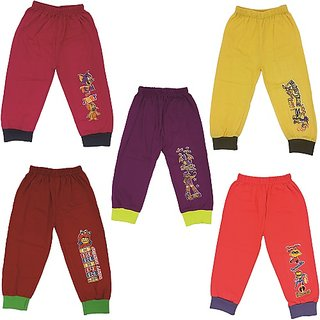 Om Shree Kids Cotton Track Pant Pack of 5 (Till 5 Years )