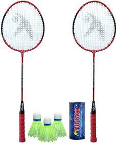 Hipkoo Air Badminton Set Red With Bag Badminton Kit