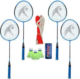 Hipkoo Sport Strength Badminton Combo (Set Of 4) Badminton Kit