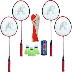 Hipkoo Standard Badminton Complete Set (Set Of 4)  Badminton Kit