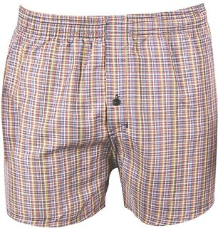 Neska Moda Men Cotton Multicolor Boxer With 1 Back Pocket XB3