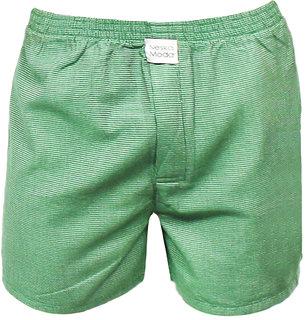 Neska Moda Men Cotton Green Boxer With 1 Back Pocket XB34