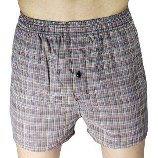 Neska Moda Men Cotton Grey Boxer With 1 Back Pocket XB136