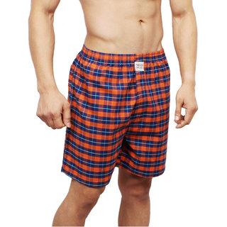 Neska Moda Men Cotton Yellow Boxer With 1 Back Pocket XB57