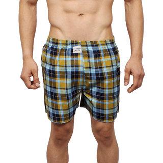 Neska Moda Men Cotton Multicolor Boxer With 1 Back Pocket XB7