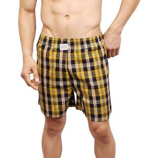 Neska Moda Men Cotton Yellow Boxer With 1 Back Pocket XB82