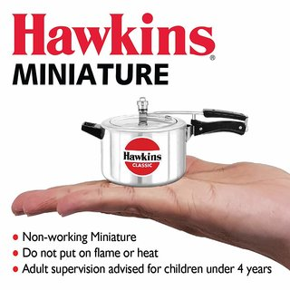 Hawkins Miniature Silver Toy Cooker For Kids