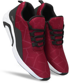 Adiso Men's Maroon Sports Shoes