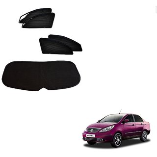 Auto Addict Zipper Magnetic Sun Shades Car Curtain With Dicky For Tata Manza